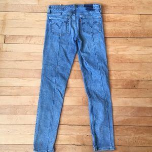 Levi's Skinny Jeans w27 L30 back Seam detail